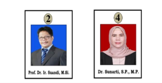 Calon Dekan Fakultas Pertanian Universitas Jambi Periode 2020 - 2024